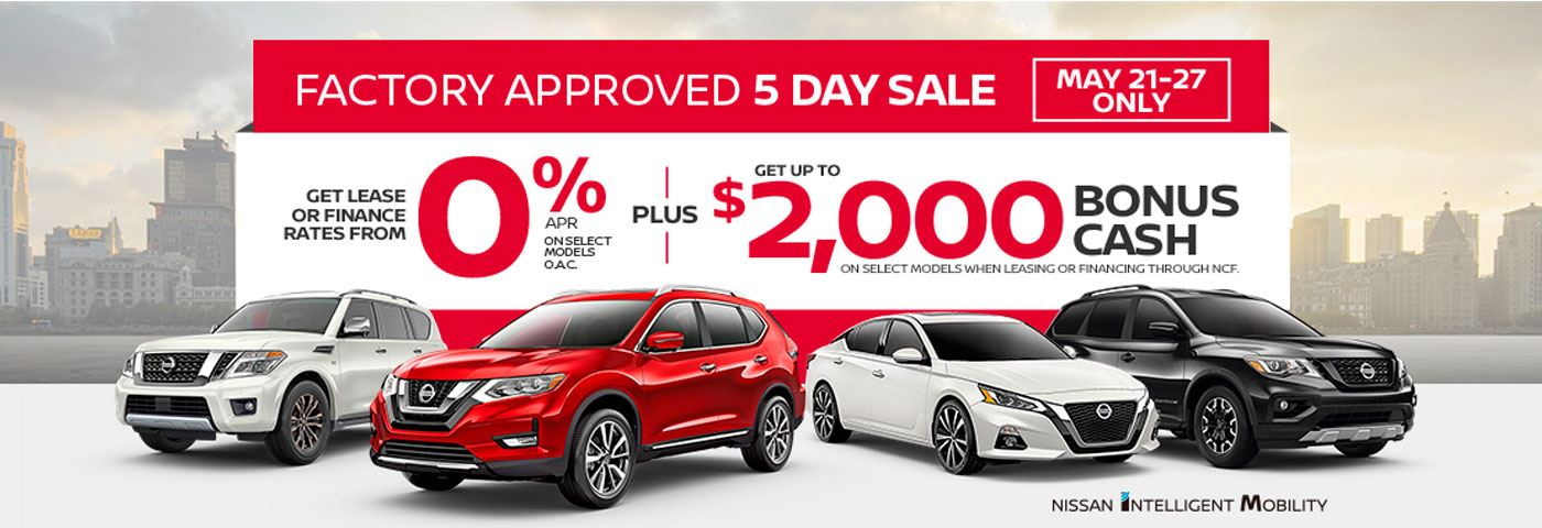 Nissan-5-day-sale-on