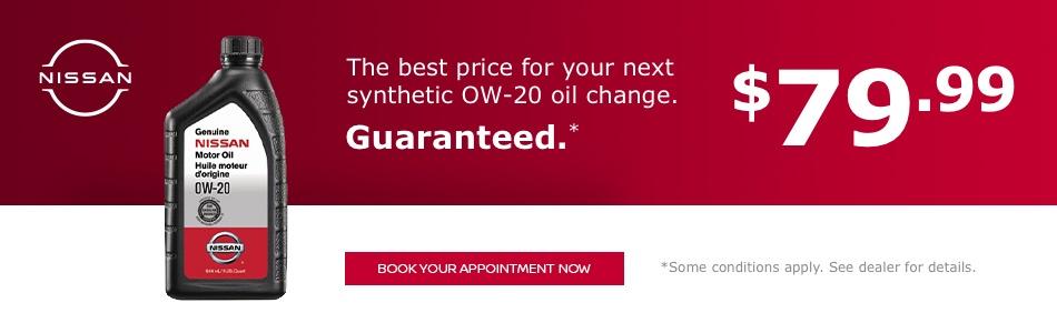 Synthethetic OW-20 Oil Change