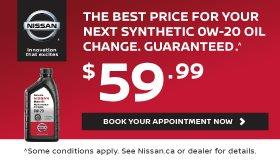 Synthethetic OW-20 Oil Change